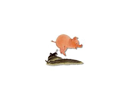 Logo Animals Pigs 008 Color