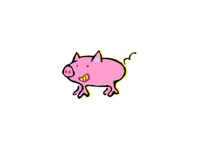 Logo Animals Pigs 018 Color