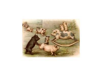 Logo Animals Pigs 005 Color