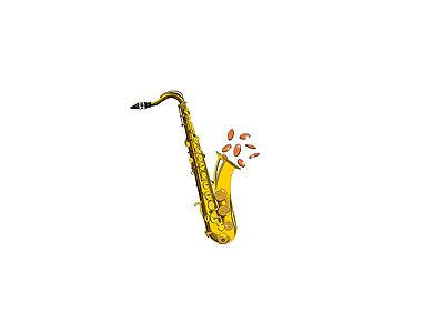 Logo Music Brass 042 Animated