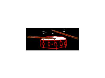 Logo Music Drums 028 Animated
