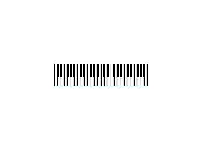Logo Music Keyboards 039 Animated