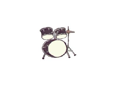 Logo Music Drums 006 Color