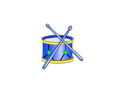 Logo Music Drums 020 Color