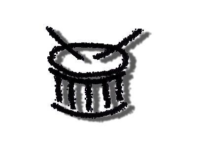 Logo Music Drums 021 Color