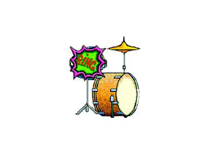 Logo Music Drums 012 Color