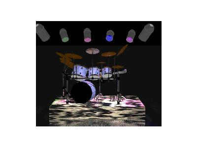 Logo Music Drums 015 Color