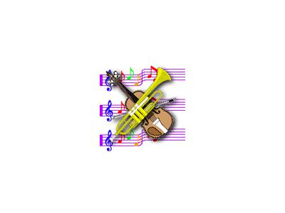 Logo Music Notes 100 Color