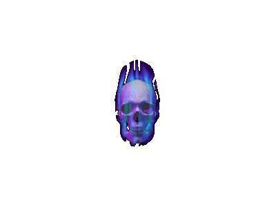 Greetings Skull02 Animated Halloween