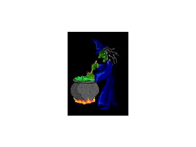 Greetings Witch04 Animated Halloween