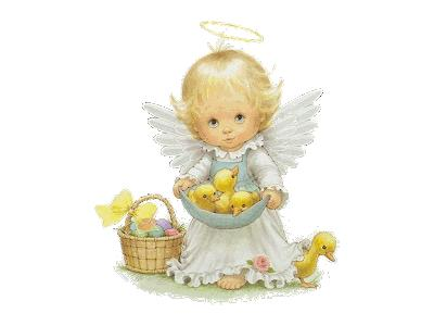 Greetings Angel01 Animated Easter