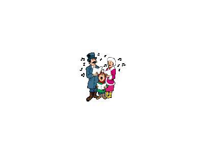 Greetings Carollers01 Animated Christmas