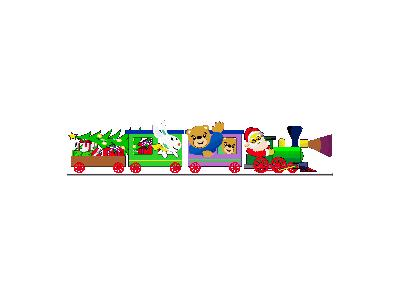 Greetings Train01 Animated Christmas