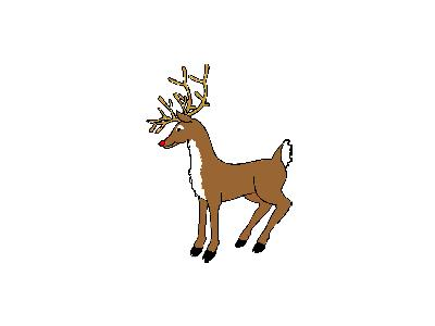 Greetings Reindeer03 Animated Christmas