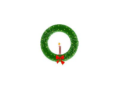 Greetings Wreath01 Animated Christmas