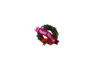 Greetings Wreath02 Animated Christmas