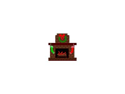 Greetings Fireplace03 Animated Christmas