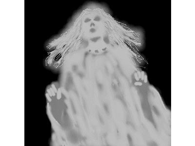 Greetings Ghost01 Color Halloween