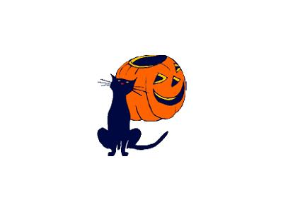 Greetings Cat01 Color Halloween