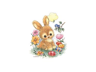 Greetings Bunny18 Color Easter
