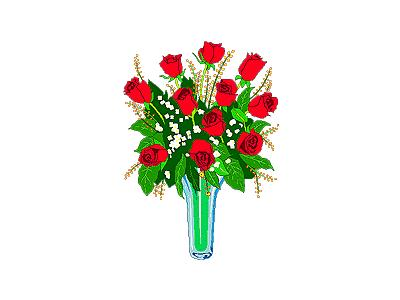 Greetings Rose02 Color Valentine