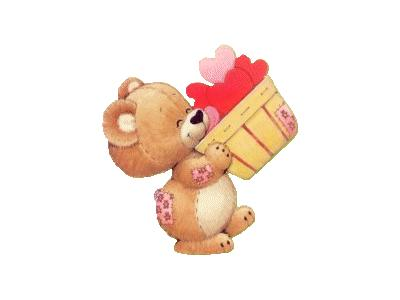 Greetings Bear02 Color Valentine