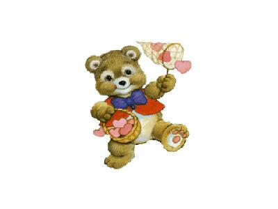 Greetings Bear03 Color Valentine