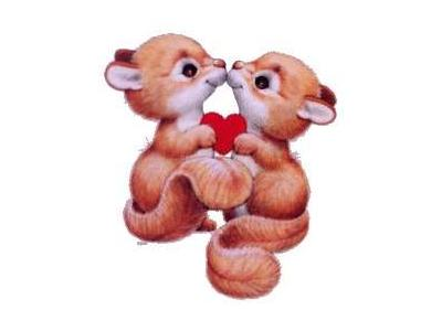 Greetings Squirrels01 Color Valentine