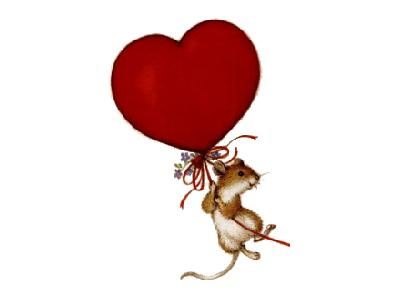 Greetings Mouse01 Color Valentine
