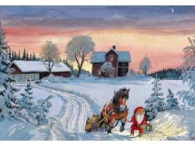 Greetings Card Christmas 019 Color New Year