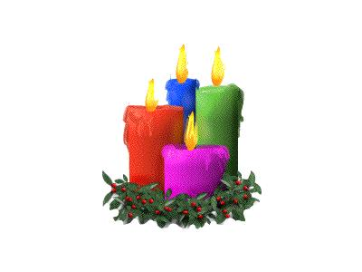 Greetings Candle03 Color Christmas