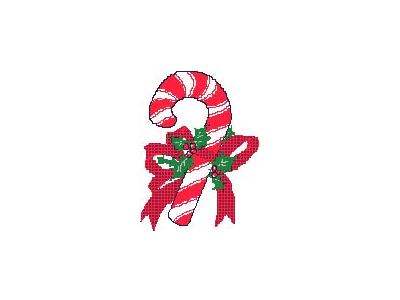 Greetings Candy Cane02 Color Christmas