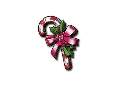 Greetings Candy Cane03 Color Christmas
