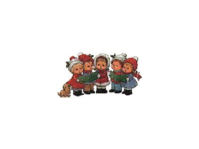 Greetings Carollers01 Color Christmas