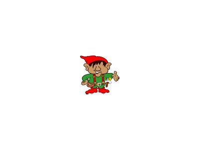 Greetings Elf03 Color Christmas