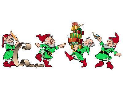 Greetings Elf04 Color Christmas
