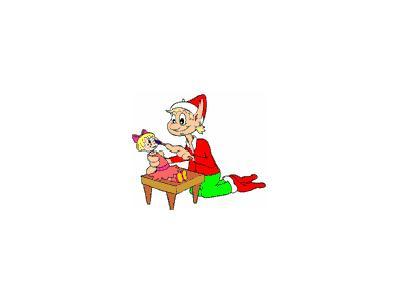 Greetings Elf05 Color Christmas