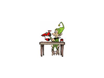 Greetings Elf07 Color Christmas