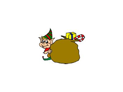 Greetings Elf11 Color Christmas