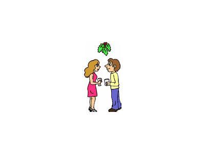 Greetings Miseltoe01 Color Christmas
