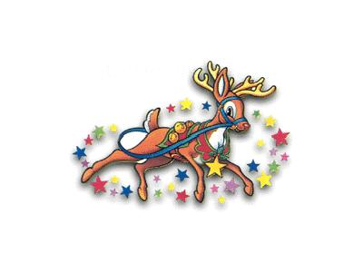 Greetings Reindeer04 Color Christmas