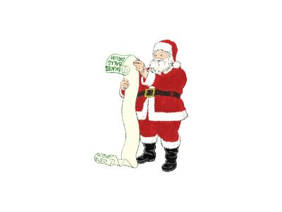 Greetings Santa07 Color Christmas