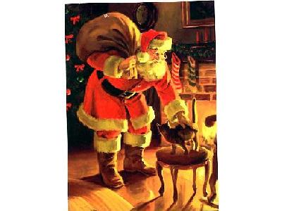 Greetings Santa16 Color Christmas