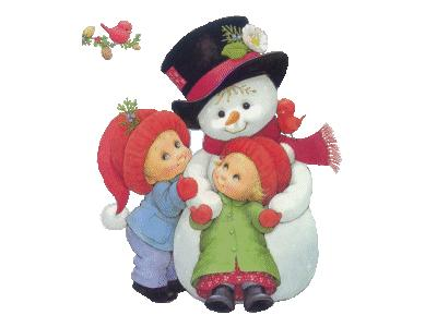 Greetings Snowman03 Color Christmas