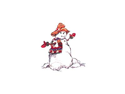 Greetings Snowman09 Color Christmas