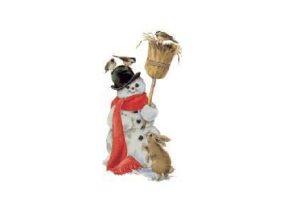 Greetings Snowman11 Color Christmas
