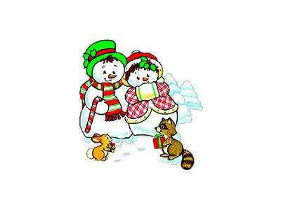 Greetings Snowman15 Color Christmas