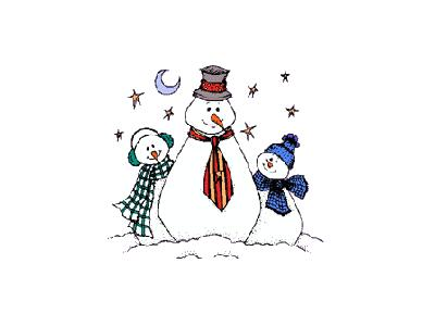 Greetings Snowman16 Color Christmas