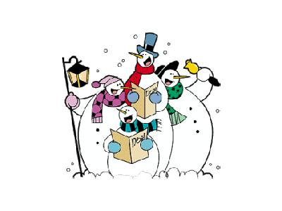 Greetings Snowman20 Color Christmas