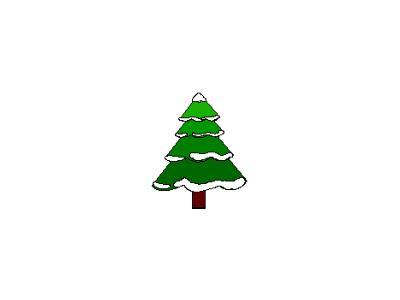 Greetings Tree02 Color Christmas